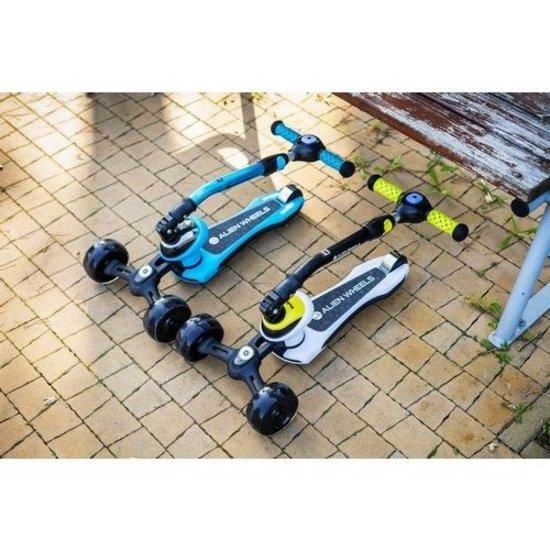 Rebel Rebel ZAB0122G Alien Wheels driewielige kinderstep, geel
