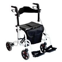 Aidapt VP184 2 in 1 rollator rolstoel wit