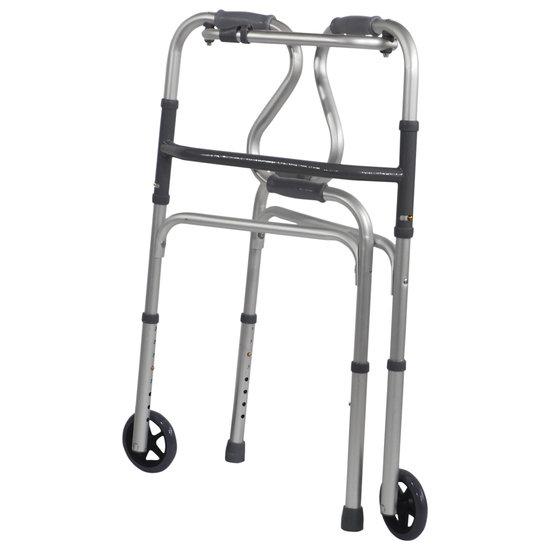 Aidapt Aidapt VP179B aluminium looprek met sta op hulp inklapbaar - met wielen