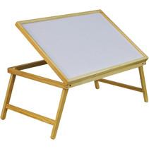Bedtafel met inklapbare poten en verstelbaar blad  - 65x40x35cm