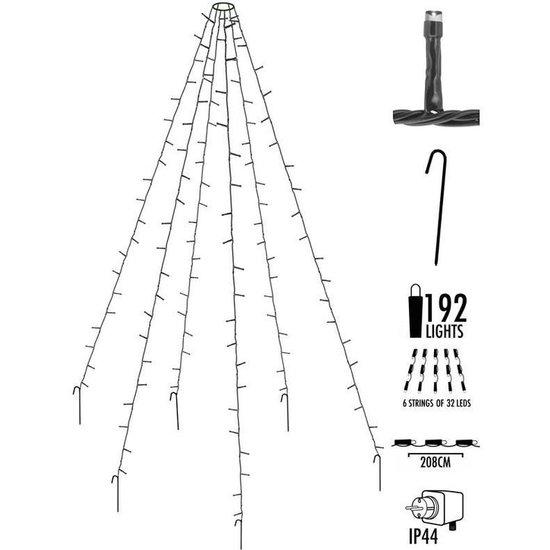 Vlaggenmast verlichting | 8 meter, 360 LED's