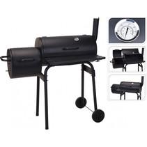 BBQ houtskoolbarbecue zwart metaal 121 x 122 x 55 cm