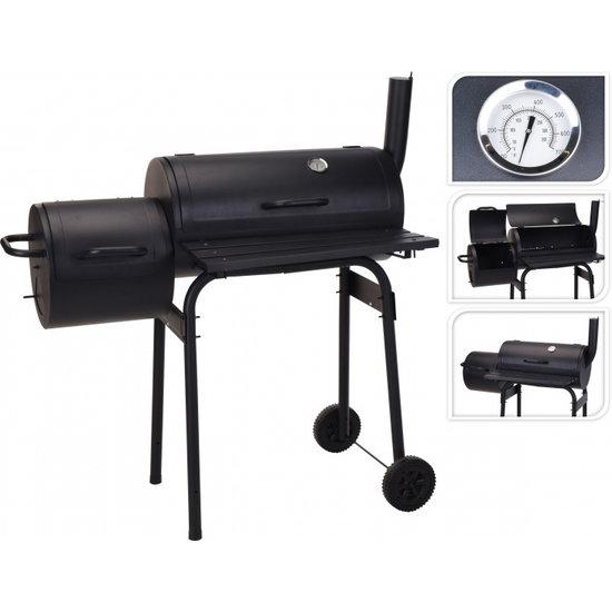 Vaggan  BBQ houtskoolbarbecue zwart metaal 121 x 122 x 55 cm