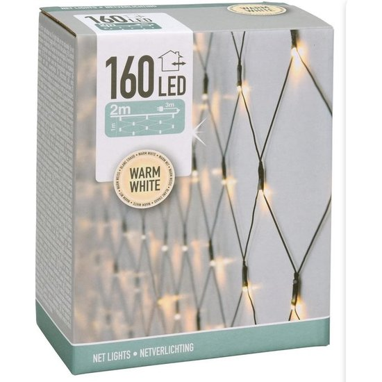 Nedis Netverlichting buiten | 160 LED's, Warmwit