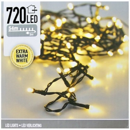 Ledverlichting 720 LED's | 54  meter, extra warmwit