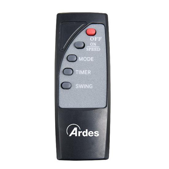 Ardes Ardes AR5W40R muurventilator 40 cm met afstandsbediening - zwart
