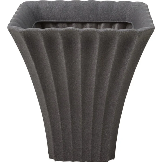 Bloempot kelk vierkant | Donkergrijs, Ø 40x42cm