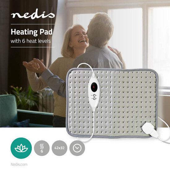 Nedis Nedis Verwarmingskussen   42 x 32 cm   6 Verwarmingsstanden   Digitale Besturing   Beveiliging tegen Oververhitting