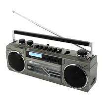 Soundmaster SRR70TI Retro stereo radio cassette recorder - met DAB+, Bluetooth en USB