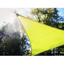Perel lime Schaduwdoek met 107 LEDS | 3,6 meter + Ingebouwde zonnepaneel