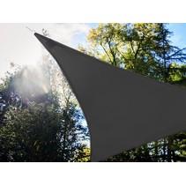 Perel antraciet Schaduwdoek met 107 LEDS | 3,6 meter + Ingebouwde zonnepaneel