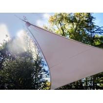 Perel taupe Schaduwdoek met 107 LEDS | 3,6 meter + Ingebouwde zonnepaneel