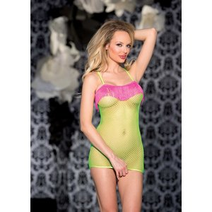 Shirley of Hollywood Neon Stretch Fishnet Dress H.O.T.