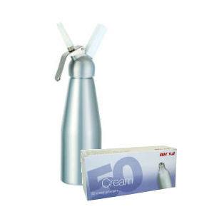 Mosa Starters-SET B: Slagroomspuit ALU 1.0 liter + patronen