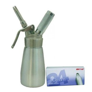 Mosa Starters-SET C: Slagroomspuit hybride 0.25 liter + 24 patronen