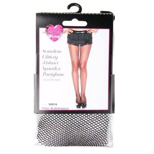 Music Legs Zwarte netpanty met glitters