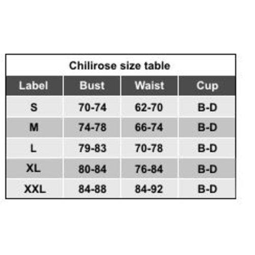 Chilirose Elegante driedelige zwarte lingerieset
