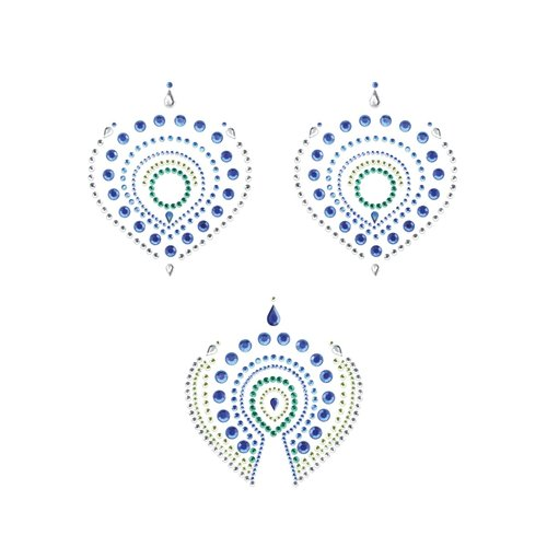 Overig Flamboyant Body Stickers - Groen/Blauw
