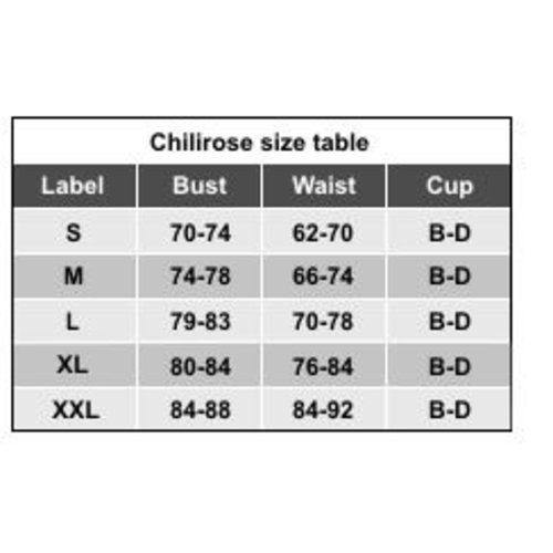 Chilirose 3-delige lingerieset zwart / roze