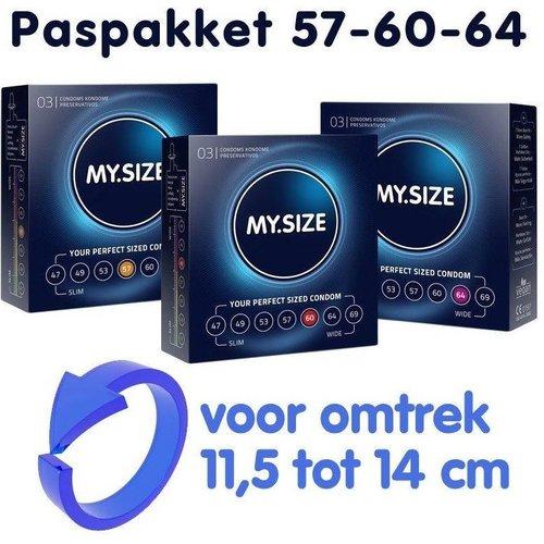 MySize PasPakket 57-60-64