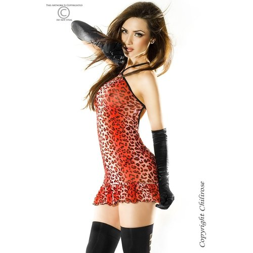 Chilirose Mini jurk dierenprint