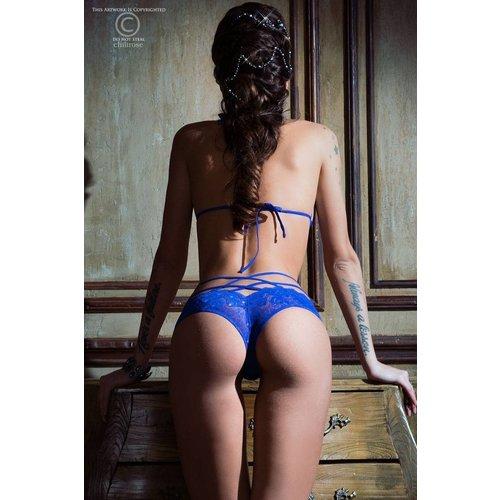 Chilirose Chique blauwe lingerieset