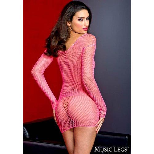 Music Legs Roze visnetjurkje