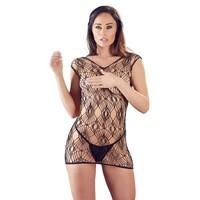 Netstof jurk met kanten string