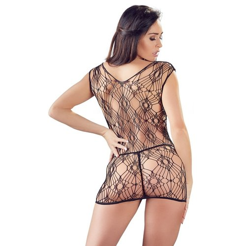 Mandy Mystery Net jurk met kanten string