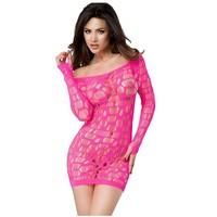 Uitdagende roze strapless mini jurk