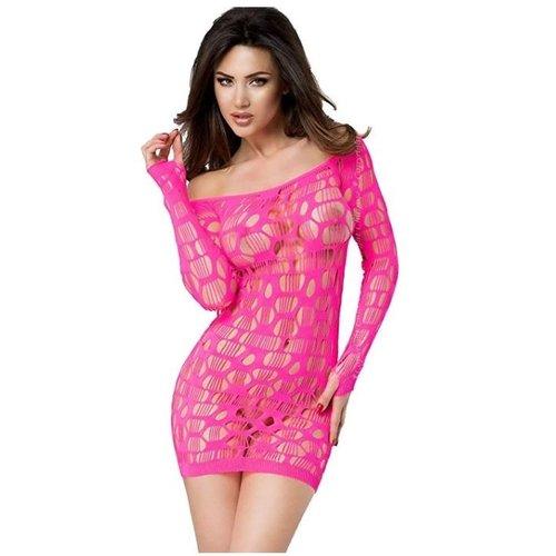 Chilirose Uitdagende roze strapless mini jurk