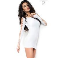 Witte strapless mini jurk