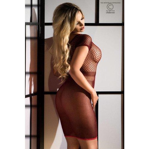 Chilirose Naadloos rood jurkje