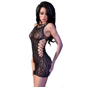 Chilirose Sexy zwart mini jurkje