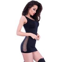 Naadloos zwart jurkje