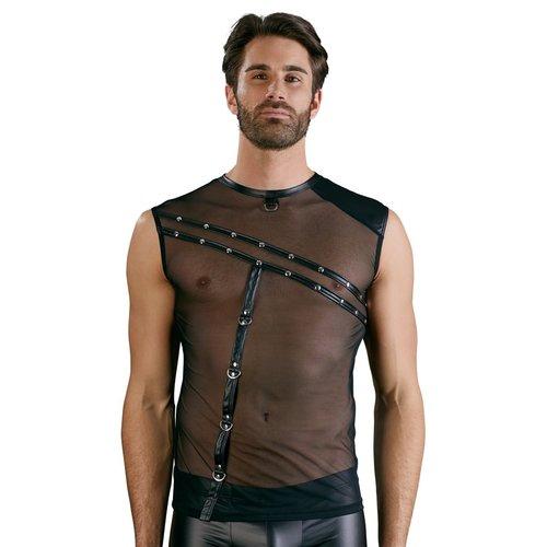 NEK Transparant shirt met diagonale strepen