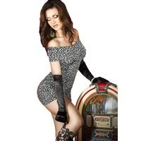 Mini jurk jungle Cheetah (zilvergrijs) OP=OP