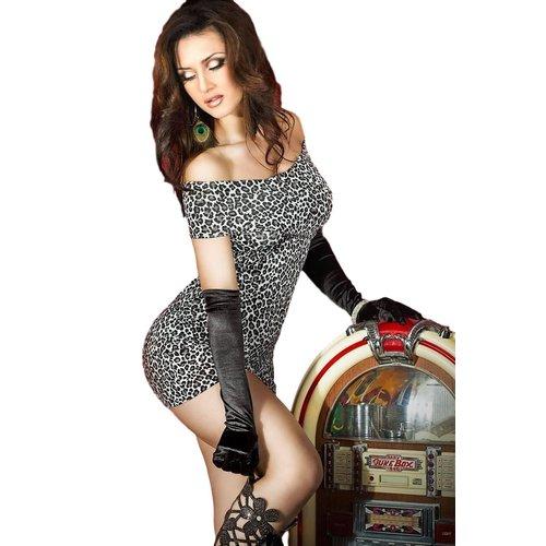 Chilirose Mini jurk jungle Cheetah (zilvergrijs) OP=OP