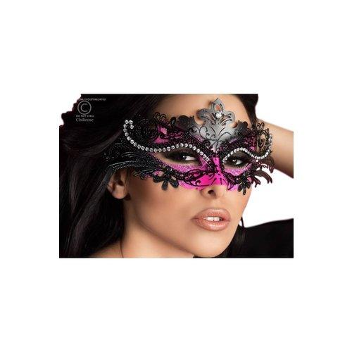 Chilirose Mysterieus masker met kristallen