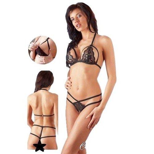 Cottelli Collection Sexy lingerie set zwart (op=op)