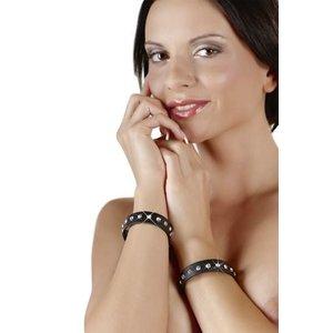 Cottelli Jewels Zwarte Armbanden met Steentjes (2 stuks)