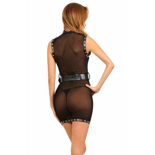 Spazm Doorzichtig zwart mini-jurkje