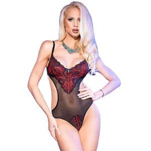 Chilirose Chilirose - Sexy body met rood kant