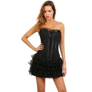 Spazm Zwart korset jurkje