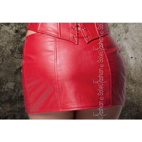 Overig Sexy rood leatherlook rokje