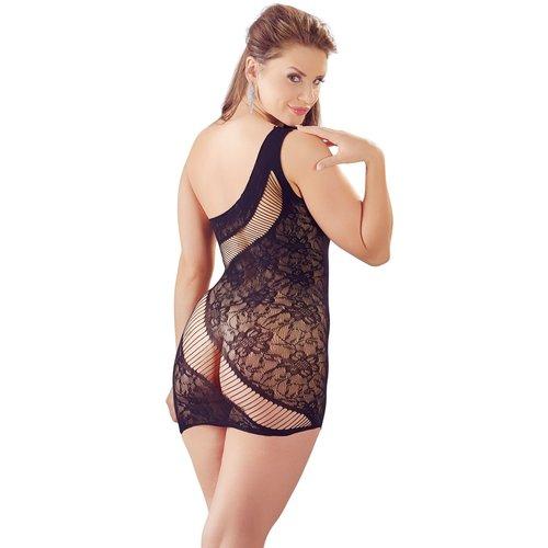 Mandy Mystery Sexy schuine netstof mini-jurk