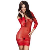 Sexy rood off shoulder jurkje