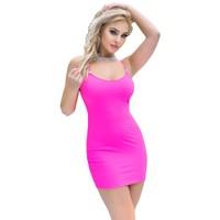 Sexy neon pink zomerjurkje