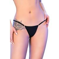 Zwarte bikini-string