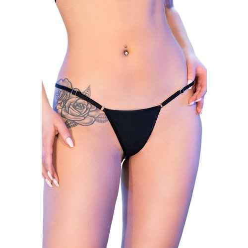 Chilirose Zwarte bikini-string